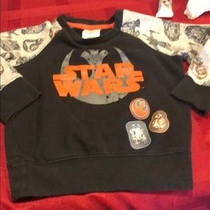 Boys preowned Star Wars sweat shirt size 3